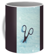 Large Scissors In Snow Coffee Mug