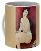 Large Seated Nude Coffee Mug by Amedeo Modigliani