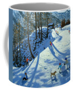Large Snowball Zermatt Coffee Mug by Andrew Macara