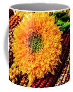 Large Sunflower On Indian Corn Coffee Mug