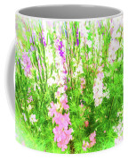 Larkspur Flowers In Soft Oil Style Coffee Mug