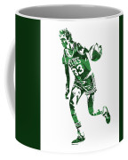 Larry Bird Boston Celtics Pixel Art 10 Coffee Mug