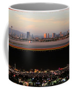 Las Vegas Skyline At Dawn And At Night Coffee Mug