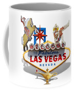 Las Vegas Symbolic Sign On White Coffee Mug