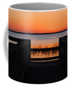 Last Glow Over The Water Coffee Mug