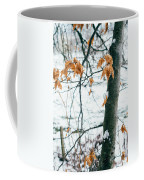 Last Snowy Leaves Coffee Mug
