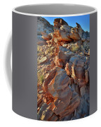 Last Sunlight On Jagged Sandstone In Valley Of Fire Coffee Mug