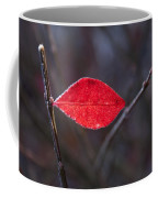 Lateral Red Leaf Coffee Mug