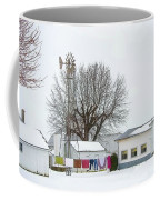 Laundry Drying In Winter Coffee Mug