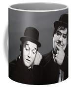 Laurel And Hardy Coffee Mug by Paul Meijering