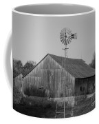 Laurel Road Barn In Black And White Coffee Mug
