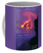 Lava Meets Ocean Action Coffee Mug