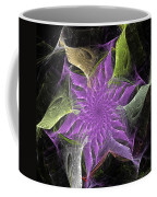 Lavendar Fractal Flower Coffee Mug