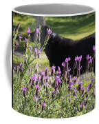 Lavender And Black Lab Coffee Mug