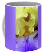 Lavender And Yellow Iris Heart Coffee Mug