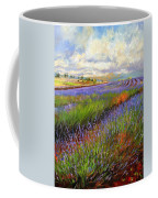 Lavender Field Coffee Mug by David Stribbling