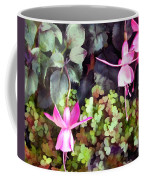Lavender Fuchsias Just Hanging Around The Garden Coffee Mug