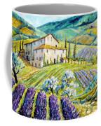Lavender Hills Tuscany By Prankearts Fine Arts Coffee Mug