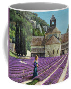 Lavender Picker - Abbaye Senanque - Provence Coffee Mug
