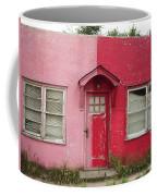 Lazy U Motel - Pink And Red Coffee Mug