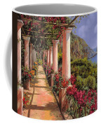 Le Colonne E La Buganville Coffee Mug by Guido Borelli