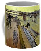 Le Pont De Trinquetaille In Arles Coffee Mug by Vincent Van Gogh