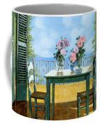 Le Rose E Il Balcone Coffee Mug by Guido Borelli