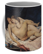 Le Sommeil Coffee Mug by Gustave Courbet