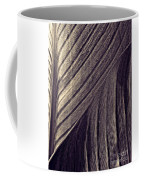 Leaf Abstract  24  Sepia   Coffee Mug