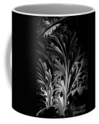 Leaf Detail 2 Black And White Coffee Mug