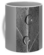 Leaf Dew Drop Number 10 Bw Coffee Mug