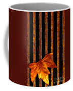 Leaf In Drain Coffee Mug by Carlos Caetano