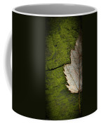 Leaf On Green Wood Coffee Mug