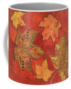 Leaf Prints And Zentangles Coffee Mug