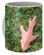 Leaf Resisting The Rain Coffee Mug
