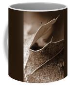 Leaf Study In Sepia II Coffee Mug