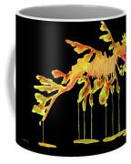 Leafy Sea Dragon On Black Coffee Mug