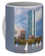 Lean Into It- Sailboats By The Hancock On The Charles River Boston Ma Coffee Mug