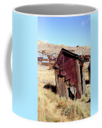 Leaning Bodie Outhouse Coffee Mug