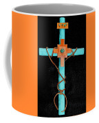 Leather And Stone Cross Coffee Mug