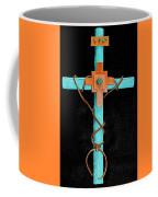 Leather And Stone Cross Coffee Mug