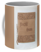 Leather Book Cover Coffee Mug