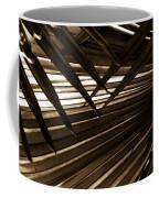 Leaves Of Palm Sepia Coffee Mug
