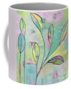 Leaves On Abstract Background Coffee Mug