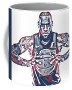 Lebron James Cleveland Cavaliers Pixel Art 54 Coffee Mug