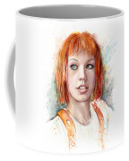 Leeloo Portrait Multipass The Fifth Element Coffee Mug by Olga Shvartsur