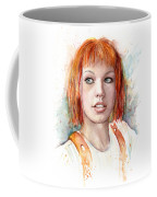 Leeloo Portrait Multipass The Fifth Element Coffee Mug by Olga Shvartsur