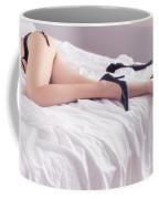 Legs Of Sexy Half-naked Woman Lying In Bed Coffee Mug
