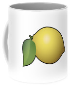 Lemon Fruit Outlined Coffee Mug
