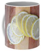 Lemon Slices On Cutting Board Coffee Mug